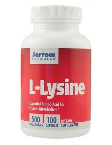 L-Lizina 100 cps Secom, L-Lysine 500mg 100 capsule Jarrow Formulas Aminoacid esential cu rol in cresterea, dezvoltarea, regenera