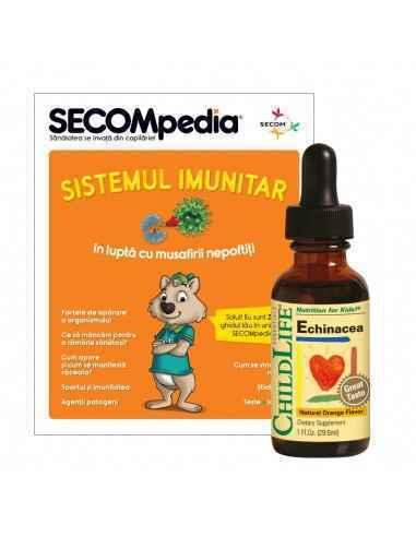 Echinacea copii 29.60ml ChildLife Cu gust de portocale Formula complexa pe baza de Echinaceea cu rol in imbunatatirea sistemului