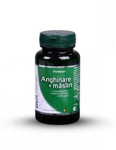 Anghinare + Maslin 60 + 30 cps DVR PharmConține un extract standardizat de frunze de anghinare, la care se adaugă extractul stan