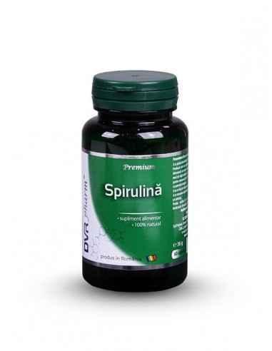Spirulina 60 + 30 cps DVR PharmSpirulina este o micro-algă alcătuită aproape în întregime din principii active, adică din aminoa