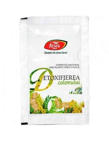 Detoxifierea Colonului plic 6g Fares Complex natural din plante medicinale conceput pentru curatarea si detoxifierea colonului.P
