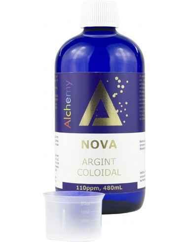 Argint Coloidal Nova 110PPM Alchemy 480ml Aghoras Nova este un argint coloidal produs cu apa structurata, de puritate maxima (co