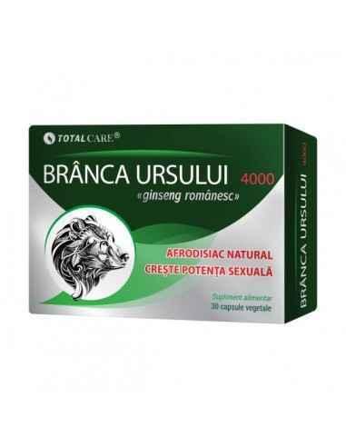 Branca Ursului 30cps CosmoPharm Branca Ursului are puternice proprietati tonice sexuale si energizante, fiind apreciata atat de