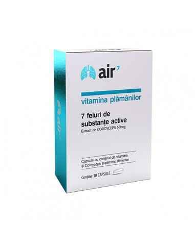 Vitamina Plamânilor Air7 30cps Green Splid E usor sa respiri cand ai doi plamani sanatosi!Ingredientele active din compozitia Ai