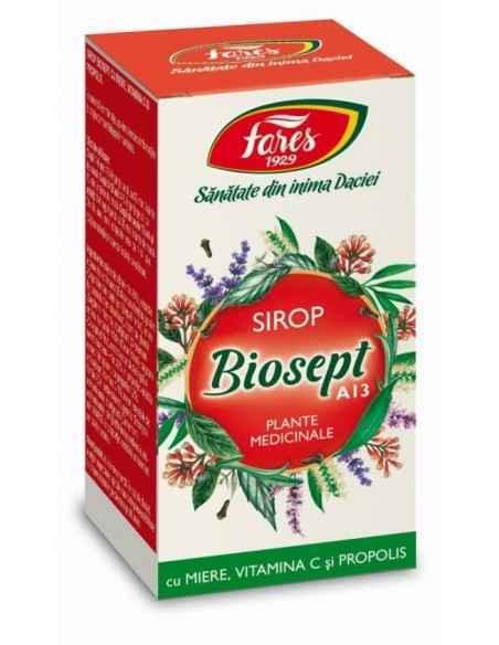 Sirop Biosept Miere Propolis 100 ml Fares