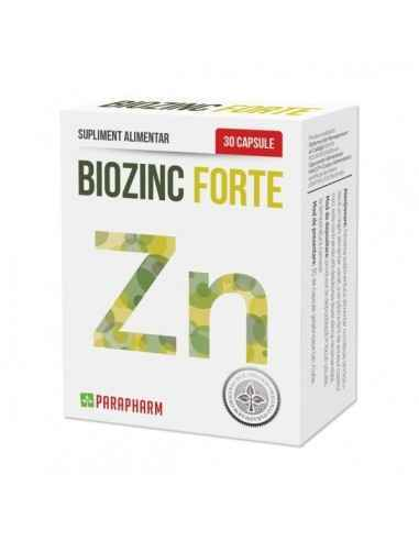 BioZinc Forte 30 capsule Parapharm Acest supliment alimentar contine zinc sub forma organica cu o biodisponibilitate crescuta fa