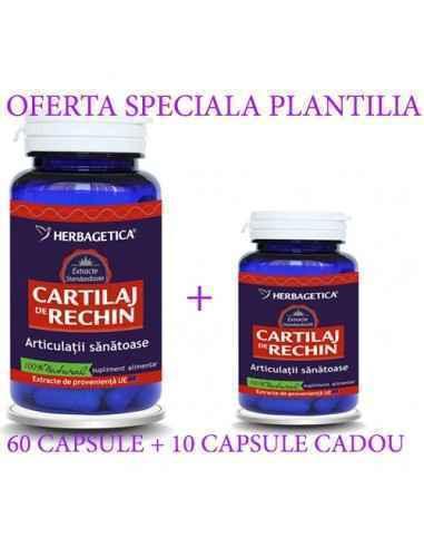 CARTILAJ DE RECHIN 60+10 capsule cadou Herbagetica, CARTILAJ DE RECHIN 60+10 capsule CADOUHerbagetica Susţine sănătatea articul