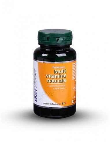 Multivitamine Naturale 60 cps DVR Pharm Multivitaminele naturale și mineralele esențiale mențin sănătatea optimă a organismului.