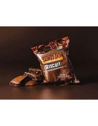 Carb Killa® Biscuit Proteic cu Ciocolata Fiecare pachet contine doi biscuiti deliciosi, crocanti, cu ciocolata, care fac o alter