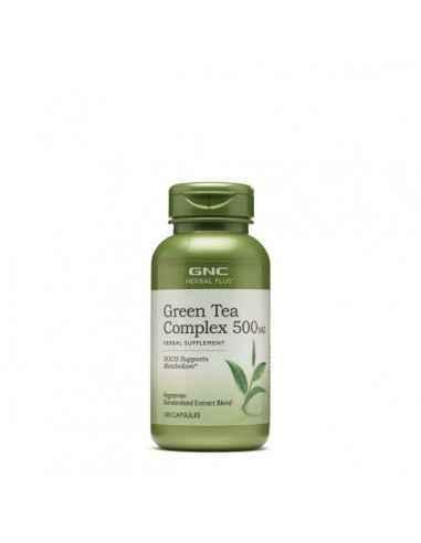 GREEN TEA COMPLEX 500 MG, COMPLEX DE CEAI VERDE, 100 CPS- GNC, GNC Herbal Plus® Complex De Ceai Verde 500 mg Toate varietatile d