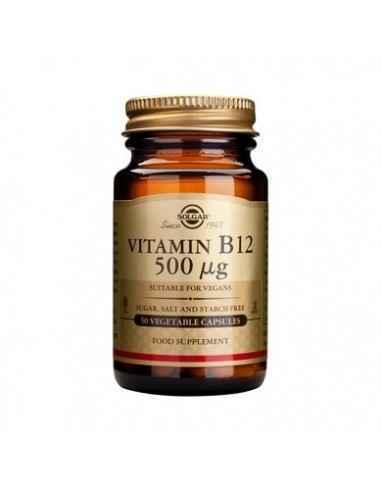 Vitamina B12 500mcg 50 cps (Cobalamina) - Solgar