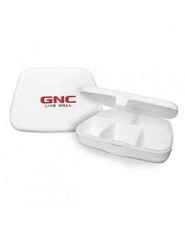 GNC Cutie Depozitare Capsule si Tablete Dispusa cu 5 compartimente, nu permite amestecarea comprimatelor.