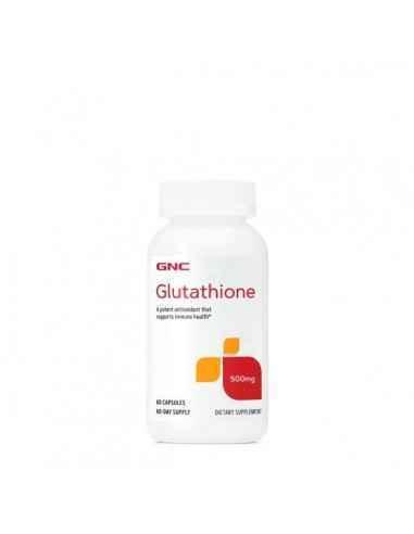 GNC L-Glutation 500 mg Glutationul este o tripeptida gasita in fiecare celula a corpului. Este esential pentru integritatea celu