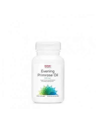 GNC Women's Ulei de Luminita Noptii 500 mg GNC Evening Primrose Oil 500 mg sprijina echilibrul hormonal si aspectul sanatos al