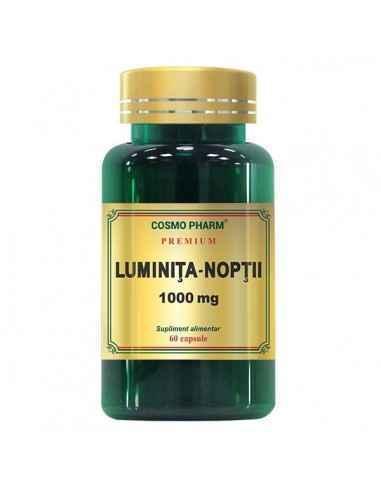 Luminita Noptii 1000 mg 30 capsule CosmoPharm Acest supliment alimentar produs din semintele Oenothera biennis este o sursa impo