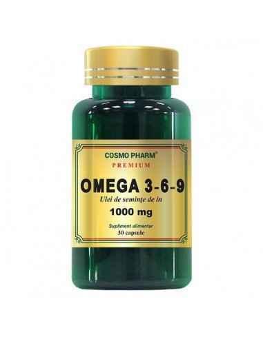 Omega 3-6-9 (Ulei Seminte In) 1000mg 30cps Cosmo Pharm,   Omega 3-6-9 (Ulei Seminte In) 1000mg 30cps Cosmo Pharm Omega 3-6-9 obt