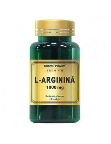 L-Arginina 1000mg 30tb CosmoPharm, L-Arginina 1000mg 30tb CosmoPharmL-Arginina capsule 1000 mg este un produs din gama Premiu