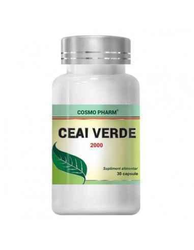 Ceai Verde 30cps CosmoPharm Accelereaza metabolismul si ajuta la mentinerea greutatii normale a organismului. .