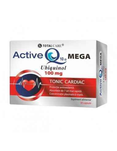 ACTIVE Q10 MEGA 30CPS - Cosmopharm Energizant si antioxidant forte. Mentine tensiunea arteriala, colesterolul, glicemia in param