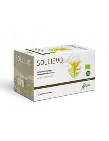 Ceai Sollievo Bio 20 plicuri Aboca Sollievo ceai este un laxativ 100% natural pe baza de plante antrachinone (SSenna ,aloe ,papa