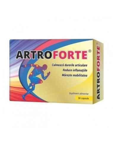 ARTROFORTE 30CPS - Cosmopharm Reduce inflamatia si durerea. Mareste mobilitatea si rezistenta articulatiilor. Adjuvant in recupe