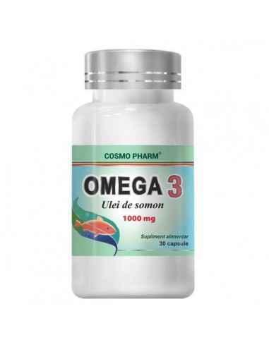 OMEGA 3 ULEI SOMON 30CPS - Cosmopharm Normalizeaza nivelul trigliceridelor, colesterolului, tensiunea arteriala. Mentine sanatat