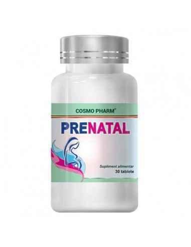 PRENATAL 30CPR - Cosmopharm Formula complexa si completa pentru dezvoltarea armonioasa intrauterina a fatului. Reduce riscul apa