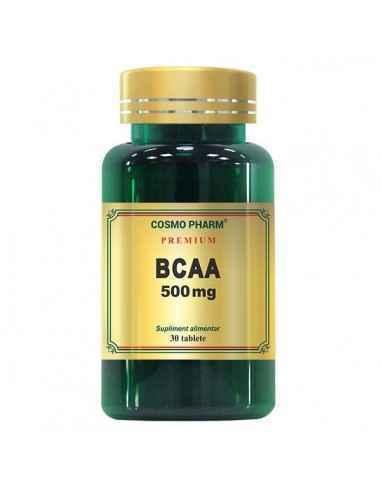 BCAA 30CPR - Cosmopharm Creste masa musculara, performantele atletice si energia organismului. Stimuleaza arderea grasimilor, re