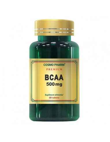 BCAA 60CPR - Cosmopharm Creste masa musculara, performantele atletice si energia organismului. Stimuleaza arderea grasimilor, re