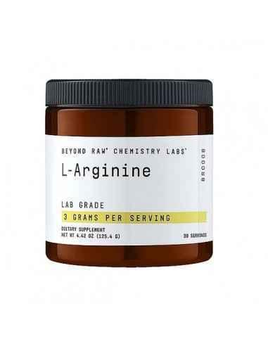 Beyond Raw® Chemestry Labs™ L-Arginina Arginina este un precursor esential al oxidului nitric, care ajuta la mentinerea tonusul