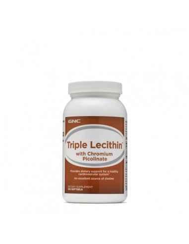 GNC Tripla Lecitina™ cu Crom Picolinat Lecitina poate ajuta organismul in emulsionarea grasimilor. Cromul este un oligomineral