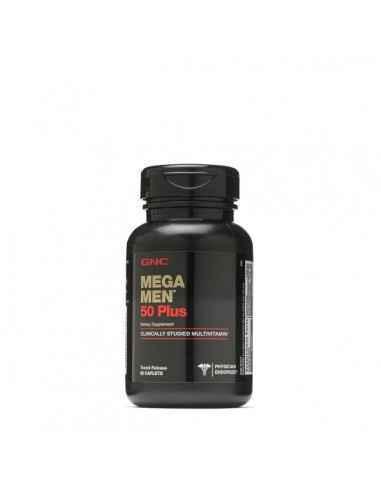 GNC Mega Men® 50 PlusCOMPLEX DE MULTIVITAMINE PENTRU BARBATI Mai multa putere antioxidanta ca niciodata si peste 30 de ingredi