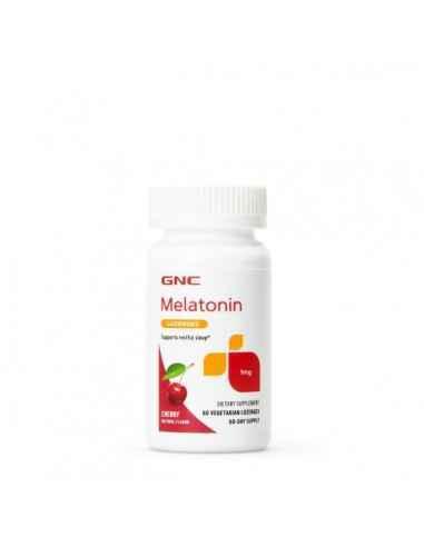 GNC Melatonin 1 mg cu Aroma de Cirese Melatonina este un hormon produs in organism de glanda pineala, aflata la nivelul creieru