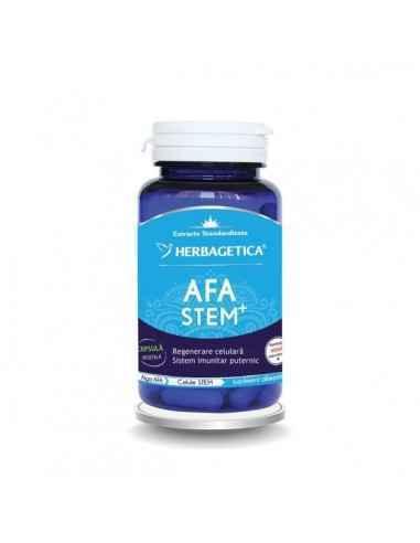 Afa Stem Complex60 cps Herbagetica AFA STEM COMPLEX conţine 3 alge verzi-albastre (Alga AFA, Spirulina şi Chlorella) cu efecte