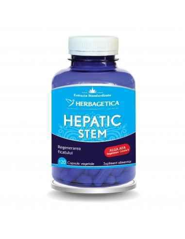 Hepatic Stem 120 capsule Herbagetica, Hepatic Stem 120 capsule HerbageticaRegenerează țesutul hepatic, scade nivelul transamina