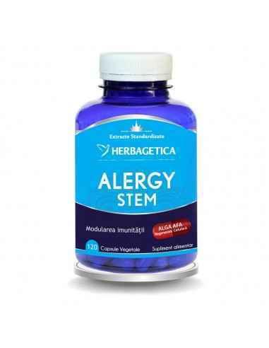 ALERGY STEM 120 cps Herbagetica Stimulează producția de Celule Stem adulte, modulează reacția sistemului imunitar, depurativ, es
