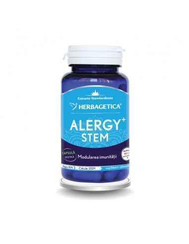 ALERGY STEM 30 cps Herbagetica Stimulează producția de Celule Stem adulte, modulează reacția sistemului imunitar, depurativ, est