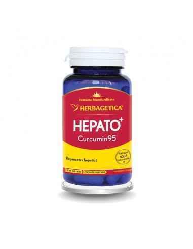 HEPATO CURCUMIN95 60 capsule Herbagetica Scade nivelul colesterolului, protejează și detoxifică celulele ficatului, antiseptic,