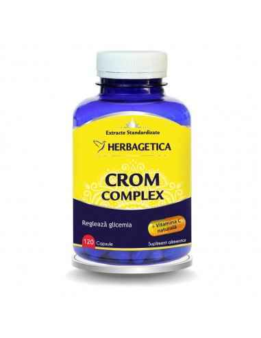 Crom Complex Combinatie de Crom, Drojdie de bere si Acerola, furnizeaza organismului vitamine si minerale 100% naturale.