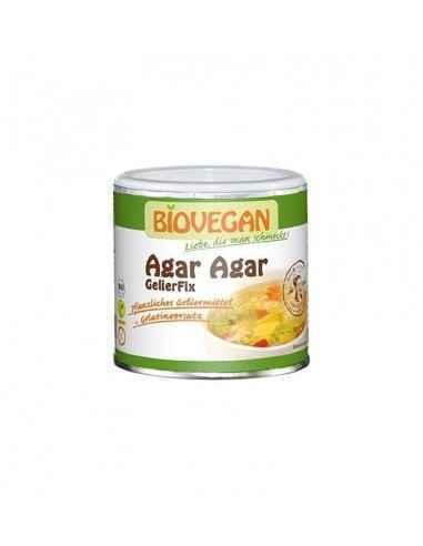 Agar Agar Bio 100g BioVegan Gelifiant natural, pe bază de alge roșii, ideal pentru aspic, gemuri, gelatină pentru torturi, aspic