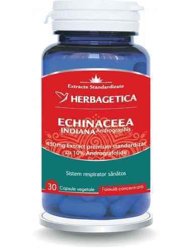 Echinaceea Indiană 30 cps - Herbagetica Reduce simptomele virozelor respiratorii