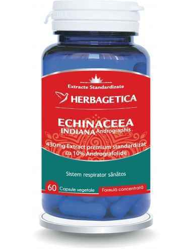 Echinaceea Indiană 60 cps - Herbagetica Reduce simptomele virozelor respiratorii