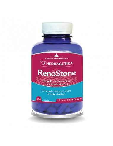 RenoStone 120 cps Herbagetica Renostone este un produs cu o compoziție complexă formată din 12 extracte fitoterapice care au ro