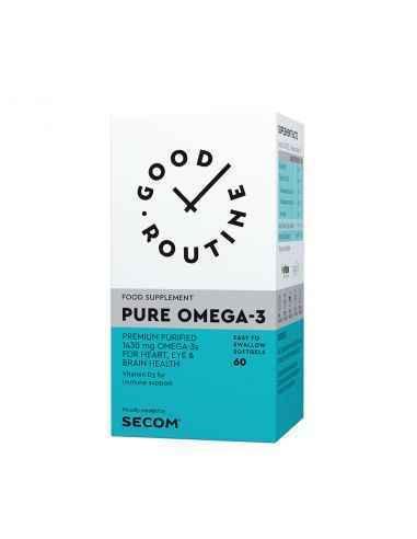 PURE OMEGA-3, 60PS-SECOM Formula concentrata pe baza de Acizi Grasi Omega-3 (1430 mg), caracterizata prin puritate inalta si ab