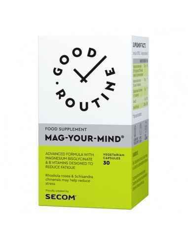 MAG-YOUR-MIND, 30CPS- secom  Formula avansata pe baza de Magneziu Bisglicinat, Rhodiola, Schisandra si Vitaminele B6 si B9 pen