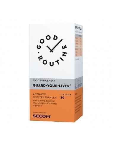 GUARD-YOUR-LIVER 30CPS- SECOM  Supliment alimentar Guard-Your-Liver®, GOOD ROUTINE®, 30 capsule moi, pe baza de Fosfolipide e