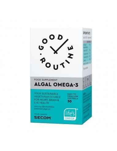 ALGAL OMEGA-3, 30CPS- SECOM Supliment alimentar Algal Omega-3, GOOD ROUTINE®, 30 capsule moi, pe baza de forma patentata life's