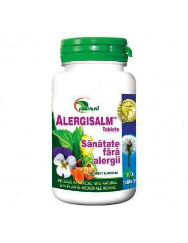 Alergisalm 100tablete Ayurmed Remediu natural pentru combaterea alergiilor. Reduce simptomele in reactiile alergice. Creste to