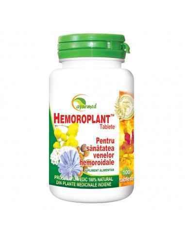 Hemoroplant 50 tablete Ayurmed Antihemoroidal natural Eficient in tratamentul hemoroizilor de orice fel. Contribuie la refacer
