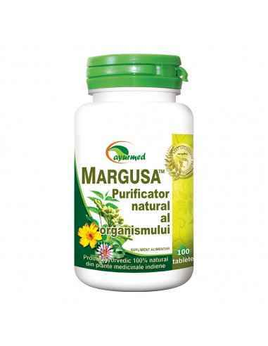 Margusa - Detoxifiant 100 tablete Ayurmed Detoxifiant eficient al organismului. Antiinflamator general, util in durerile osteo-